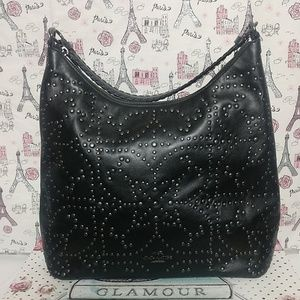 Coach Celeste Hobo Black Studded Leather Bag NWOT